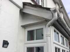 Before installation of fascias and soffits